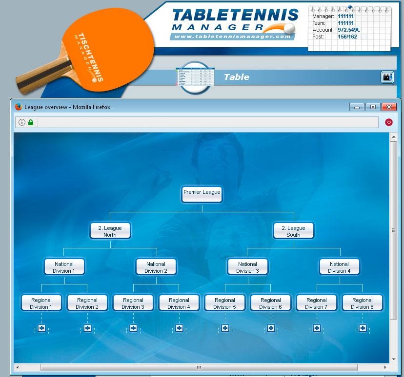 Table Tennis Manager Manage Your Own Table Tennis Club